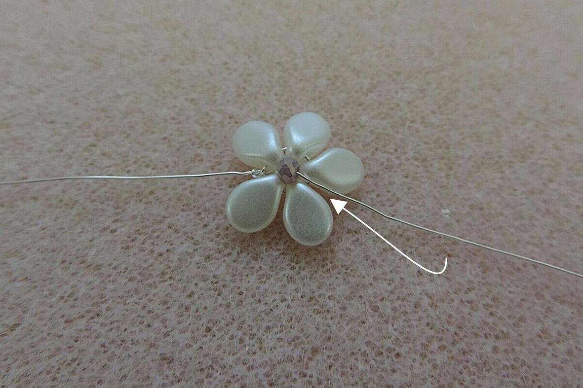making the Pip beads flowers 5